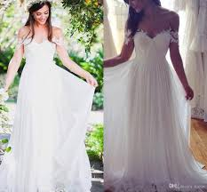 flowy wedding dresses. Discount Lace Off Shoulder Beach Wedding Dresses 2018 Modest Simple