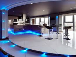 home bar lighting ideas. alluring blue decorative lighting for contemporary home bar ideas in black and white coloring scheme