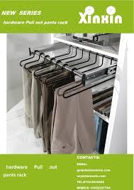 china wardrobe accessories closet hardware pull out pants rack trouser rack furniture hardware china trouser rack pant hanger