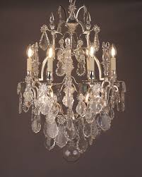 beautiful vintage french chandelier 5 cage crystal