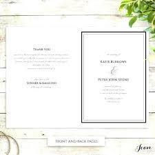 printable program templates wedding service template sheet church order ceremony mass