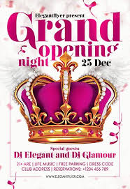 Free Grand Opening Flyer Template Free Grand Opening Night Flyer Template By Elegantflyer
