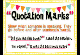 Quotation Marks Anchor Chart Quotation Marks In Dialogue Lessons Tes Teach