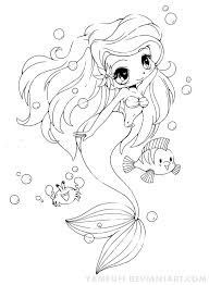 Ariel The Little Mermaid Chibi By