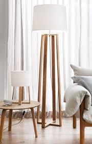 the beacon lighting copenhagen scandinavian inspired floor lamp in teak
