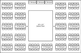 banquet table layout generator 40 x 60 w banquet tables buffet dance floor super stuff