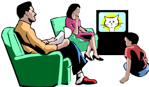 family watching tv clipart. watching television cliparts #2540796 family tv clipart a