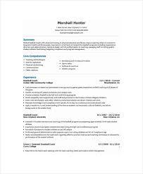 College Soccer Resume Sample regarding Baseball Resume For College
