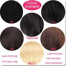 Lace Front Color Chart Full Lace Wigs In Stock Color Chart Human Hair Wigs Color