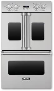 viking vdof730ss 30 inch double electric french door oven with 4 7 cu ft vari sd dual flow convection ovens 11 cooking modes infrared broiler