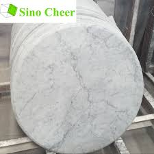 white marble table top. Simple Table Factory Direct Sale Round Carrara White Marble Table Top  Buy  TopCarrara TopRound Product On  Intended