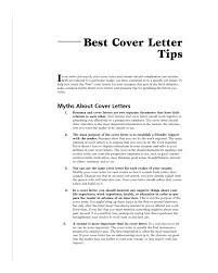 good cover letter tips