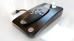 surfboard usb charging station for smartphones solid aluminum black octopus