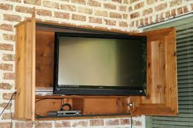 architecture downright simple outdoor tv cabinet for 50 tv box frame is made for outdoor