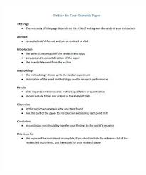 Outline Templates For Research Paper High School Research Paper Outline Related Essay Outline