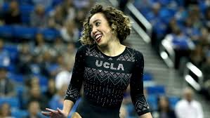 katelyn ohashi of ucla during an ncaa college gymnastics match on jan 4 in los angeles ben liebenberg ap