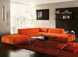 Burnt Orange Living Room Furniture Using Orange Sofa In Living