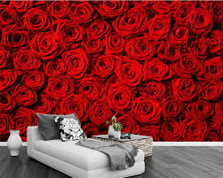 Beibehang Custom wallpaper red rose ...