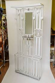 Art Deco French Iron Entry Hall Stand or Tree Painted in White 2