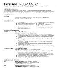 Therapist Resume Samples