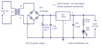 schematic voltage regulator the wiring diagram circuit diagram of 7812 voltage regulator wiring diagram schematic