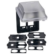 taymac 2 gang square plastic weatherproof electrical box cover