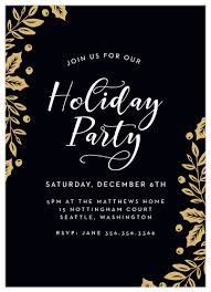 Holiday Dinner Invitation Template 2019 Holiday Party Invitations Match Your Color Style