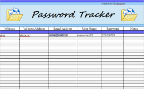 passwords template 9 password spreadsheet templates free word excel pdf documents