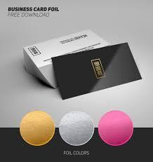 Free Business Card Foil Mockup Download Psddaddycom