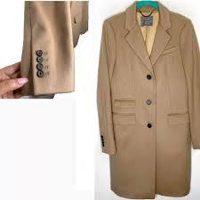 J Crew Stadium Cloth Nello Gori Camel Coat Sz 2 Depop