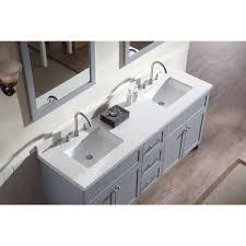 grey double sink vanity. ariel bath f073d-wq-gry hamlet 73\ grey double sink vanity