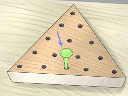 Wooden Triangle Peg Game How to Win the Peg Game 100 Steps with Pictures wikiHow 3
