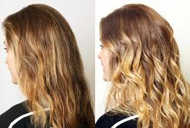 before and after this diy balayage ballyage technique