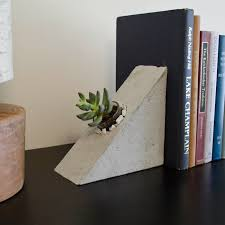 View in gallery Concrete planters with small built-in planters