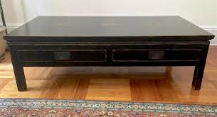 black asian coffee table nice size and only 400 on chairish