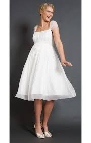 Alya Silk Maternity Wedding Dress Short Maternity Wedding