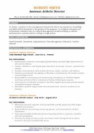 Sample Sports Resume Assistant Athletic Director Resume Samples Qwikresume