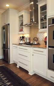 White Kitchen Shaker Cabinets Cabinets Drawer Dayton Painted White Shaker Cabinets Brick Wall