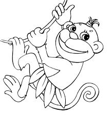 Disegno Di Scimmia Appesa A Una Liana Da Colorare Disegni Da