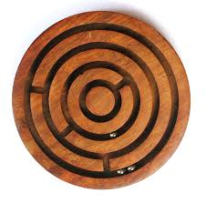 Wooden Marble Maze Game