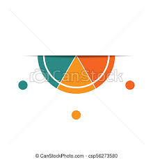 Semicircle Template For Infographics With 3 Parts