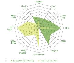 Hop Wheel Chart Simplified Range Of Hop Profiles Based On Flavor Scent