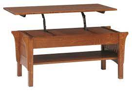 Mission style coffee tables we can customize any of our solid hardwood coffee tables to the size your need. Mission Lift Top Coffee Table From Dutchcrafters Amish Furniture