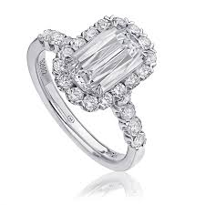 Christopher Designs Lamour Crisscut Diamond Engagement Ring