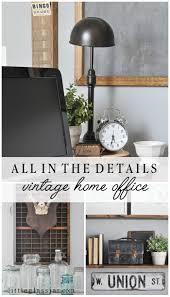 vintage office decorating ideas. All The Details Of Our Vintage Home Office Via Littleglassjar.com Decorating Ideas O