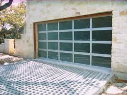 full view tempered glass garage door