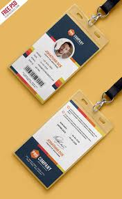 030 The Best College Id Card Template Psd Free Download