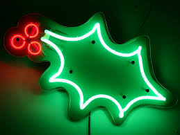 Christmas Signs Christmas Holly Neon By Neon Circus Neon Signs Pinterest