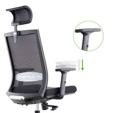 for cmo high back mesh ergonomic 360 swivel office computer chair with adjule headrest and flexible arm rest black at whole on crov com