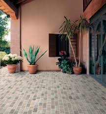 Cobblestone Kitchen Floor Floors Handsome Image Of Home Interior And Exterior Flooring With